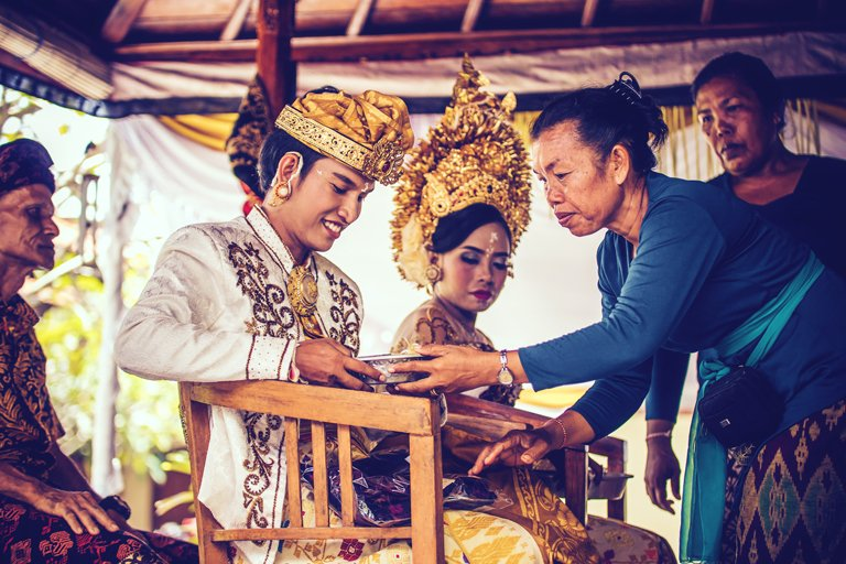 Young Balinese couple getting married