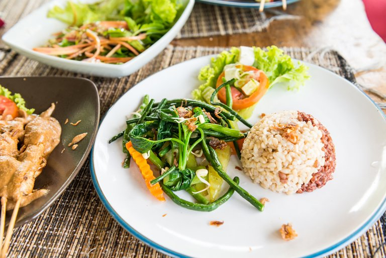 Traditional Balinese dish based on rice and vegetables
