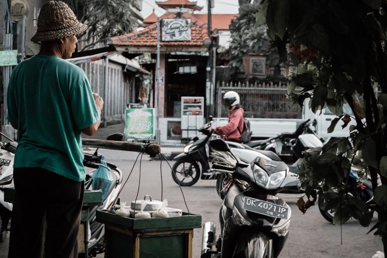 Several motorcycles for rent in Bali