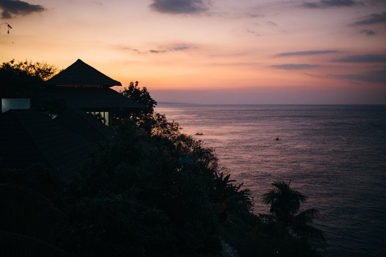Sunset in Amed, Bali