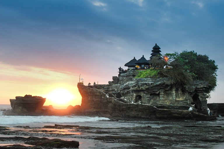 Sunset at Tanah Lot Temple, Bali