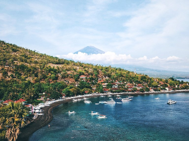 Views of Amed beach, Bali