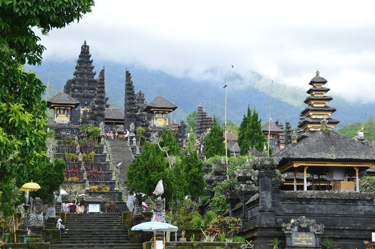Views of the Besakih Mother Temple, Bali
