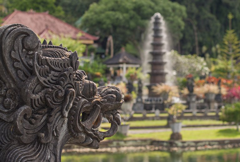 Views of Tirta Ganga temple, Bali