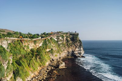 Cliffs in the southern part of the island of Bali, in Uluwatu