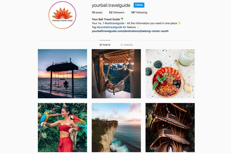 Your Bali Travel Guide - Instagram Page