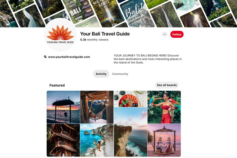 Your Bali Travel Guide - Pinterest Page